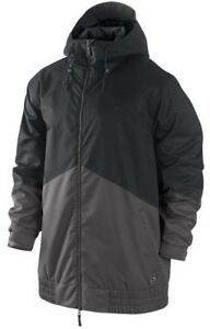 Nike SB Kampai Mens Snowboard Ski Jacket Winter Snow Coat Black Grey 10K