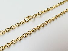 - 1.2mm O Rolo Link Chain 16.5inch J.Lee Stamp Au750 18K Yellow Gold Necklace