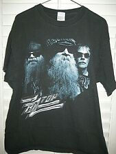 Vintage Zz Top Summer Tour 2004 Size Large Black T-Shirt- Euc- Free Ship!
