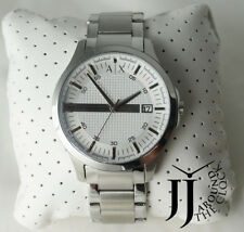 New Armani Exchange A/X Hampton Polished silver Mens Watch AX2177 46mm