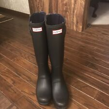Hunter  Women's Original Tall Rain boots , Ladies Rubber Boot ,size 9