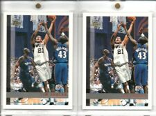 Tim Duncan 1997-98 Topps Rookie RC Lot of 2 #115
