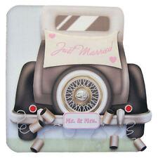 Novelli Sposi Matrimonio Per Auto 3D Decoupage Carta per Mr & Mrs Novelli sposi personalizzati
