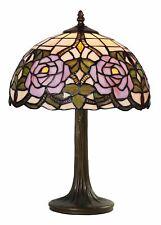 Romantische Tiffany Tischlampe mit zarten Rosen