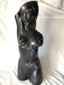 Bronzeskulptur Torso Akt Frauenakt Art Deco-Stil