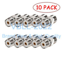 10X UHF SO239 Female to SO-239 Female RF Coaxial Adapter Connector For PL259 CB