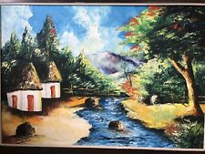 brush paiting art on canvas by Sanders