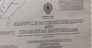 ADMIRALTY  SEA  CHART. HARWICH,CROMER to ROTTERDAM.N0.1408. NORTH SEA. 1955 - 90
