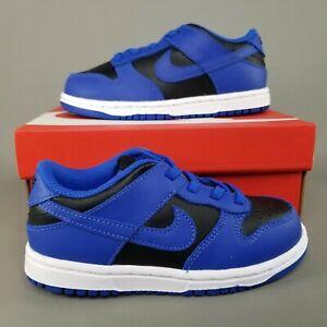 Nike Dunk Low TD Shoes Hyper Cobalt Toddler Size 10C Athletic Blue Black White