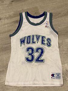 Vintage NBA Champion Christian Laettner Timberwolves Jersey #32 size 40 MINT