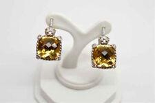 Yellow Quartz Leverback Earrings ~ Nwot New listing Judith Ripka 925 Sterling Silver &