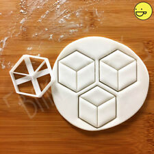 Hexagon Cuboid cookie cutter | Geometry Geometric biscuit hexagonal shape cube