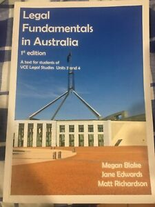 Legal Fundamentals In Australia 1st Edition VCE Legal Studies Free Postage 2018