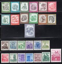 Austria 1950's-70's Castles + Landscapes 26 Stamps Values to 50Sh Mnh