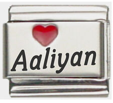 Clearly Charming Aaliyan Laser Name Italian Charm Bracelet Link