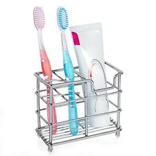 Toothbrush Holder Stainless Steel Multifunction Bathroom Toothpaste Holder