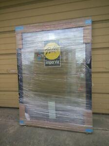 "NEW: Black-White FIBERGLASS PICTURE Home WINDOW w/ Tempered Glass 43""W x 62""H"