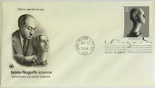 10 USPS PCS Isamu Noguchi 2004 37c Stamp FDC 3858 First Day Issue NEW
