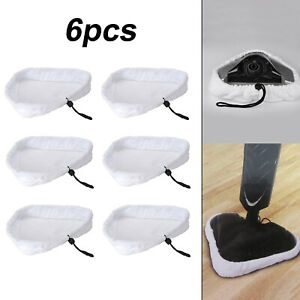 6pcs Microfiber Cloth Cleaning Pads Set For Steam Floor Mop Steamer Cleaner