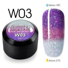 1pcsTemperature Change Glitter Color Gel Polish Thermal Magic Effect Nail w03