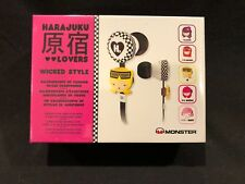 Brand New SEALED MONSTER Harajuku Lovers Wicked Style InEar Earbuds Headphones