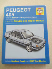 1988 - 1996 Peugeot 405 4 cylinder petrol engine cars Haynes service manual