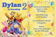 Printable Invite Personalised Winnie The Pooh Bear Invitation JPEG You Print