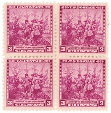 1938 3c US Postage Stamps Scott 836 Landing of Swedes and Finns Lot of 4