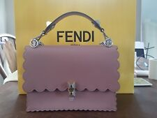"""Fendi """"Kan I"""" Bag Leather Silver Tone Chain Link Dusty Rose - Sold Out Color!!!"""