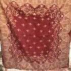 Opera Brand Tapestry Chenille Beaded Trim Mahogany & Tan Victorian Style 56x54
