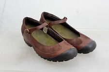 MERRELL Plaza MJ BUCKLE STRAP MARY JANE SHOES WOMEN'S SIZE 9 SUEDE & LEATHER