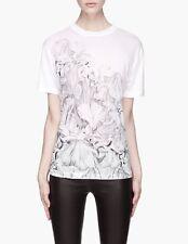 MCQ ALEXANDER MCQUEEN iconic Iris boyfriend t-shirt maglietta donna bianca M NWT