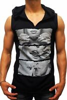 NEW MENS HOODED TANK JOINT DRUGS COKE SLEEVELESS SINGLET SHIRT S XXL GYM MUSCLE