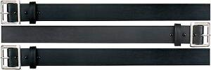 "Bonded Black Leather Garrison Uniform Belt W/ Silver Buckle - Even Sizes 30""-46"""