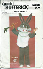B 6348 child COSTUME sew PATTERN authentic BUGS BUNNY Looney Tunes 2-4,6-8,10-12