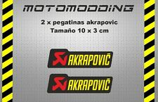 2 x pegatinas akrapovic vinilo adhesivo stickers decals autocollant aufkleb