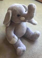 Build A Bear plush stuffed elephant, gray, about 16""