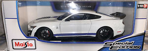 1:18 Maisto Ford Mustang Shelby GT500 American Muscle Sports Car 1/18 White