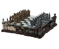 """17"""" Medieval Fantasy Chess Game Set 3D Castle Platform Metal Pewter 3"""" King New"""