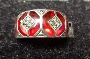 NICE VINTAGE STERLING SILVER RING 6 #18A1123