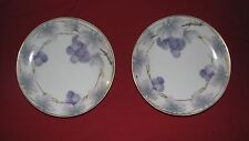 antique KRONACH BAVARIA Sylvia 2 saucers purple grape design Rosenthal 6""