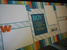 BOY SMILE  Friends Two 12x12 Premade Scrapbook Pages 4 Family Son