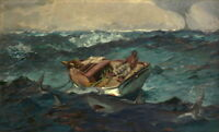 Winslow Homer The Gulf Stream Giclee Canvas Print Paintings Poster Reproduction