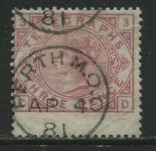 GB QV 3d Telegraph stamp Plate 3 CDS used