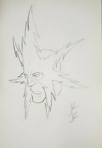 John Romita Jr. Original Art Sketch ELECTRO Signed 11 x17