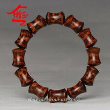 Bamboo Joint Buddha Beads Bracelet China Snakewood Hand Grinding 12pcs/1.8*1.4Cm