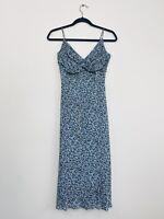 Lisa Ho Womens Slip Dress Teal Strappy 90 Y2K Style Size 8 Races Designer