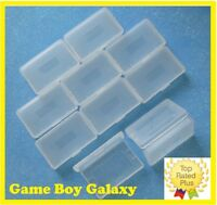 GBA Clear Plastic Cartridge Cases Nintendo Game Boy Advance 2 5 10 15 25 50 100