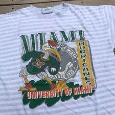 Vintage 90's Miami Hurricanes T-Shirt Men's sz XL NCAA Football UM Canes