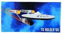 Warehouse Find- Classic Star Trek Boldly Go Enterprise 1701  Bath/BeachTowel